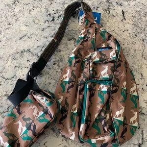 Kavu Wild Buck Rope Sling Bag with Pouch NEW
